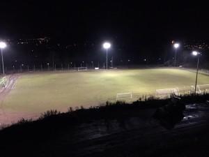 erste LED-Flutlichtanlage in Rheinland-Pfalz