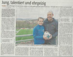 Zeitungsbericht Jonna Brengel-Axel Roos